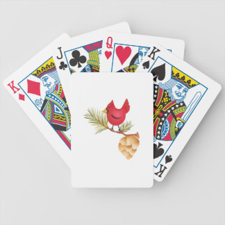 CARDINAL AND PINE CONE DECK OF CARDS