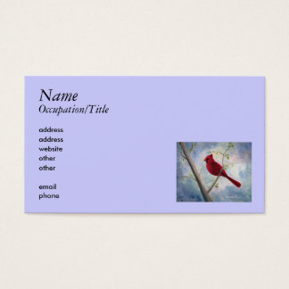 Cardinal Avery Business Card