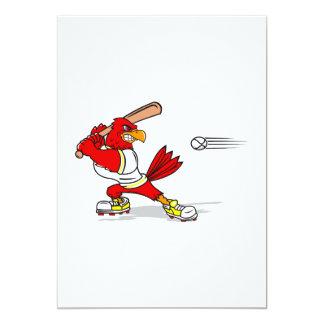 Cardinal Baseball Player 13 Cm X 18 Cm Invitation Card