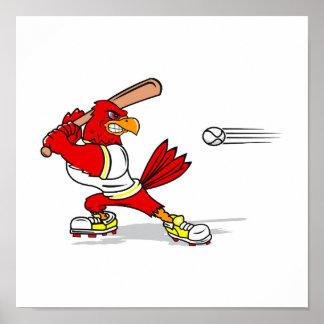 Cardinal Baseball Player Poster