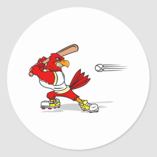 Cardinal Baseball Player Round Sticker