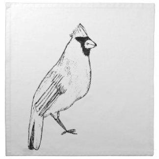 Cardinal Bird Napkin