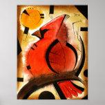 Cardinal Bird  dk_2005aug8q Poster