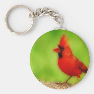 Cardinal bird keychain