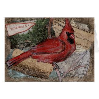 Cardinal Bird painting Card