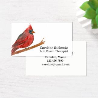 Cardinal Bird Watercolor Business Card