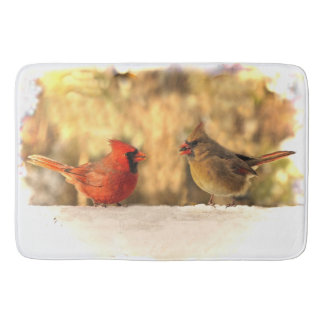 Cardinal Birds in Autumn Bath Mats
