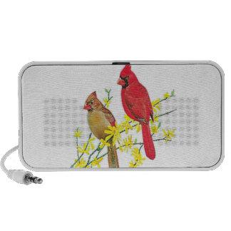 CARDINAL BIRDS PORTABLE SPEAKERS