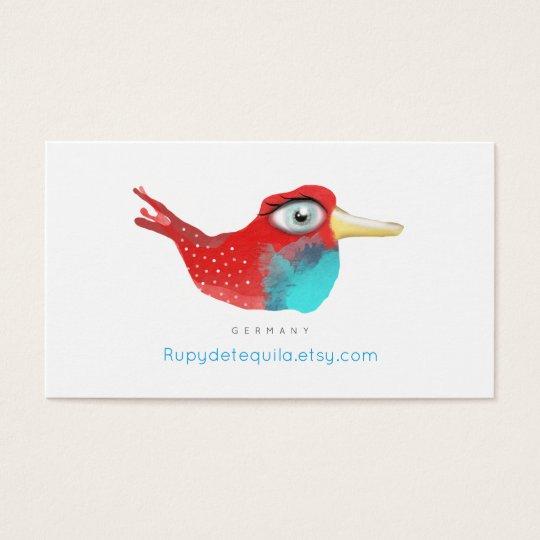 Cardinal Business card vintage bird