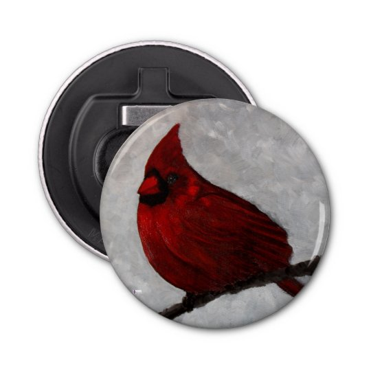 Cardinal Button Bottle Opener