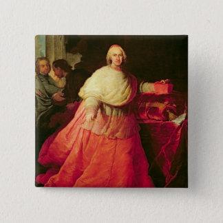 Cardinal Carlos de Borja, c.1721 (oil on canvas) 15 Cm Square Badge