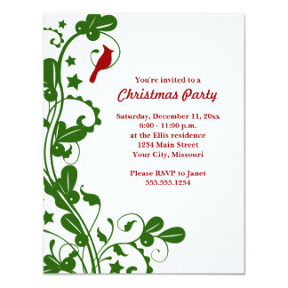 Cardinal Christmas Party Invitations