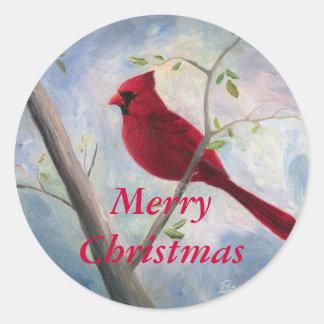 Cardinal Christmas sticker
