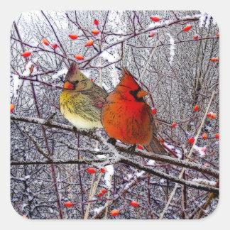 Cardinal Christmas Stickers