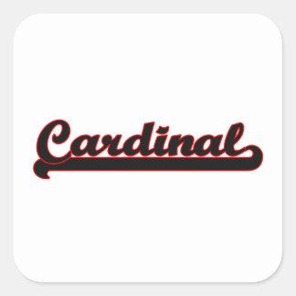 Cardinal Classic Job Design Square Sticker
