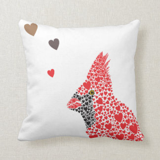 Cardinal Couple Cushion