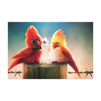 Cardinal Couple - Eric Proctor Gallery Wrapped Canvas