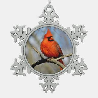 Cardinal Crest Snowflake Ornament