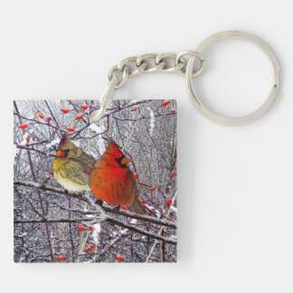 Cardinal Forest Key Ring