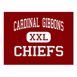 Cardinal Gibbons - Chiefs - High - Fort Lauderdale Postcard