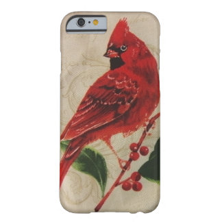 Cardinal in a Holly Tree Barely There iPhone 6 Case