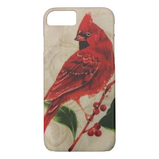 Cardinal in a Holly Tree iPhone 7 Case