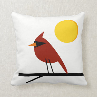 Cardinal in the Sun Cushion