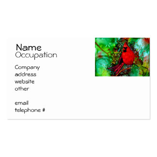 Cardinal In the Tree Pack Of Standard Business Cards