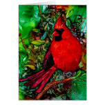 Cardinal In the Tree Card Card