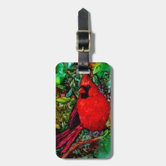 Cardinal In the Tree Luggage Tag