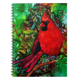 Cardinal In the Tree Spiral Notebook