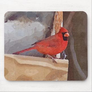 Cardinal in Winter Mouse Mat