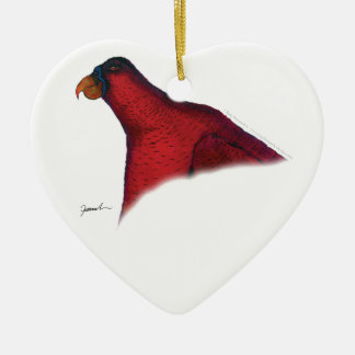 cardinal lory parrot, tony fernandes christmas ornament