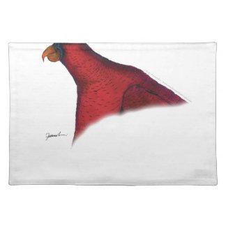 cardinal lory parrot, tony fernandes placemat