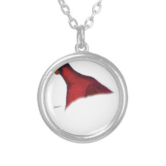 cardinal lory parrot, tony fernandes silver plated necklace