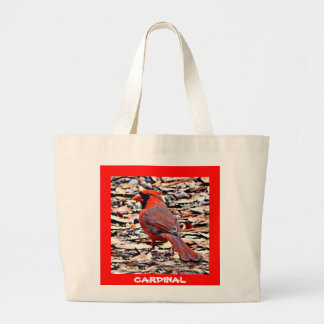 Cardinal (Male) Large Tote Bag