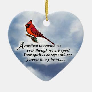 Cardinal Memorial Poem Christmas Ornament