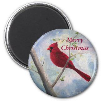 cardinal, Merry Christmas Magnet