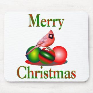 Cardinal Merry Christmas Mouse Mat
