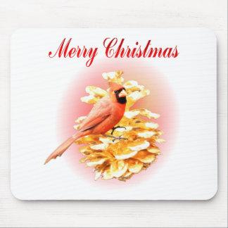 Cardinal Merry Christmas Mousepad