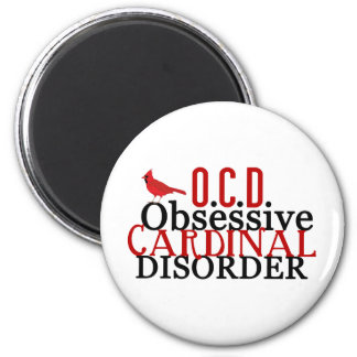 Cardinal Obsessed Funny Magnet