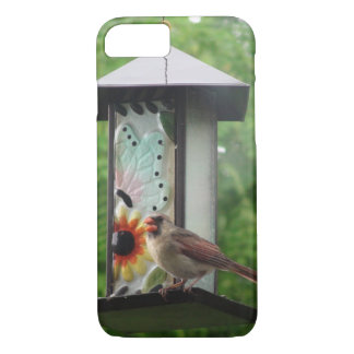 Cardinal on Birdfeeder iPhone 7, Barely There iPhone 7 Case