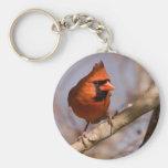 Cardinal on Branch Key Chain