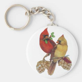 Cardinal Pair Key Ring