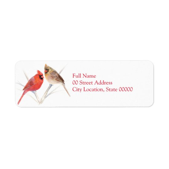 Cardinal pair return address label