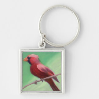 Cardinal Perched Keychain