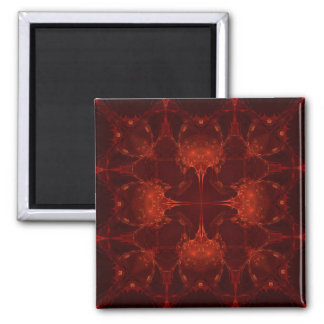 Cardinal Red  7 Square Magnet