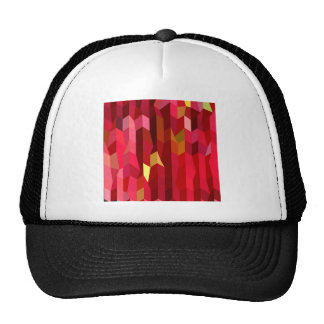 Cardinal Red Abstract Low Polygon Background Cap