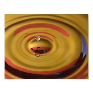 Cardinal Red and Gold Water Drop 11 Cm X 14 Cm Invitation Card