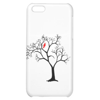 Cardinal Red Bird in Snowy Winter Tree Case For iPhone 5C